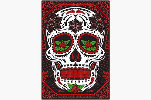 Day of the Dead Skull Metal Art