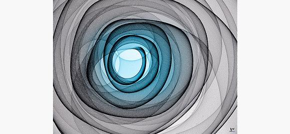Gray Blue Vortex Abstract