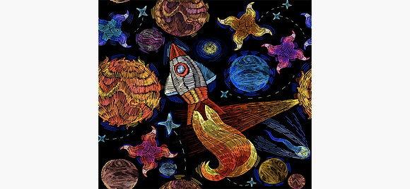 Spaceship Art for Kids