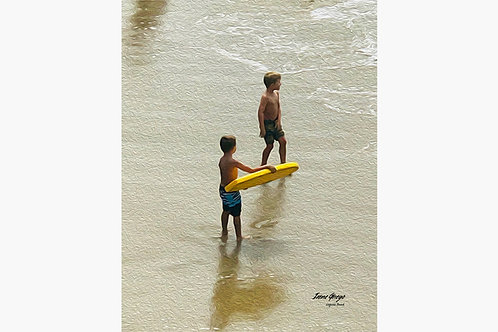 Kids at Laguna Beach By Irene Griego