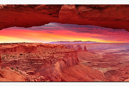 Moab Arches Red Sunset Large High Gloss Metal Art