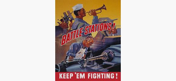 Battle Stations Vintage Art