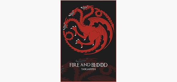 Fire and Blood House Targaryen Metal Print