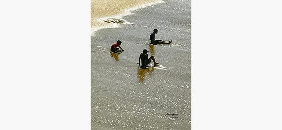 Kids at Laguna Beach Oil Painting