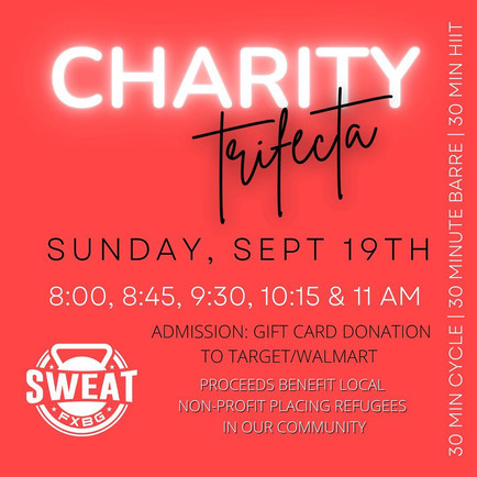 Sweat FXBG Charity Trifecta
