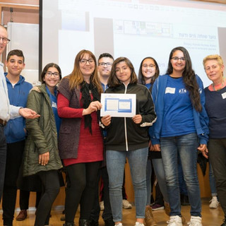 תלמידי סנו מיכאל מיפו, עם המנהלת נג_לה ח