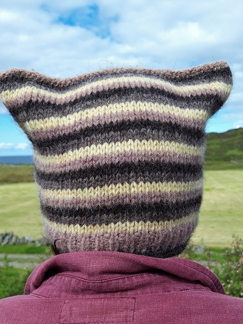 Knitted PSY Colonsay Square Hat