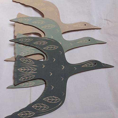 Screen-printed Geese