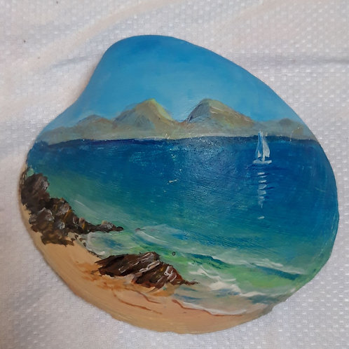 Hand Painted Shell