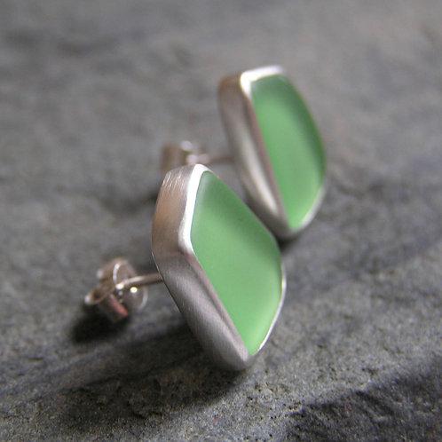 Sea-glass Stud Earrings