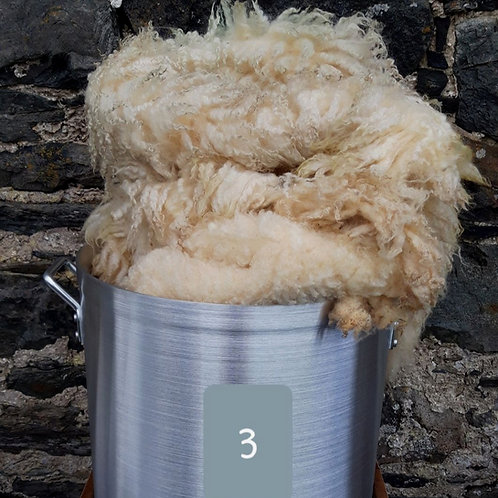 Raw Blueface Leicester Fleece