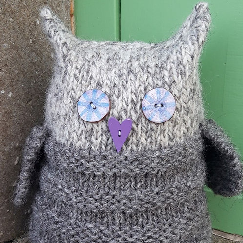 Owl Doorstop Knitting Kit