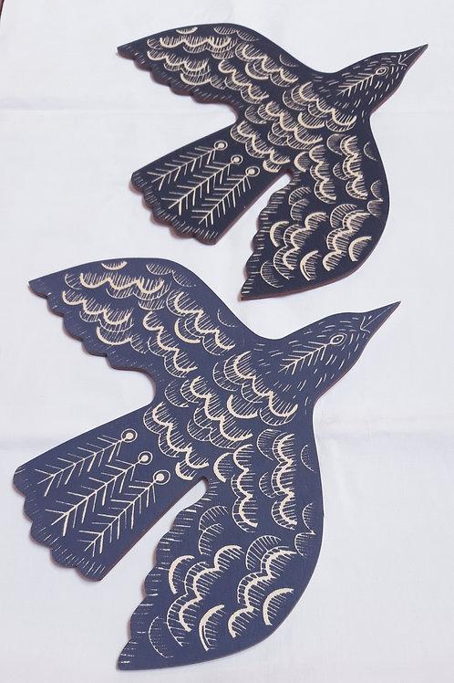 Screen-printed Blackbirds