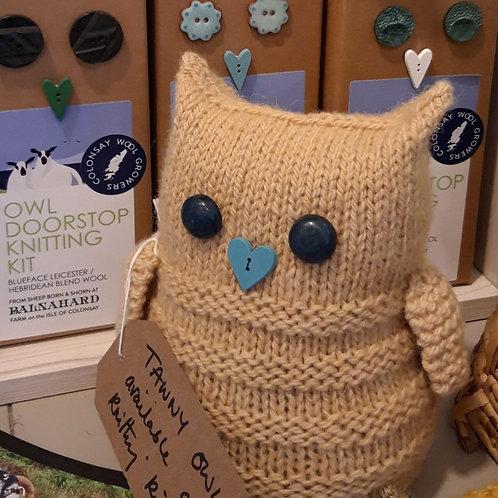 TAWNY Owl Doorstop Knitting Kit