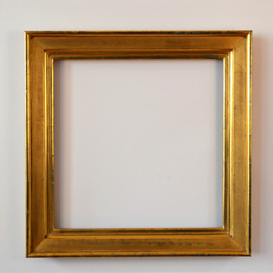 American Sully style frame. Water gilded