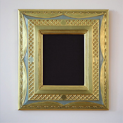 Inspired by Stanford White. Carved and water gilded, lemon gold