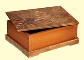 Handcarved and Water-Gilded-Top Keepsake Box