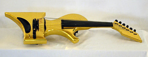 Gilded Electric Violin