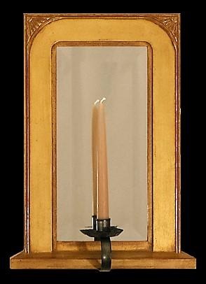 Sunray Gilded Mirror Sconce
