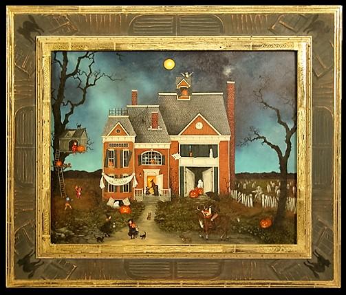 Halloween-Themed Folk Art Frame