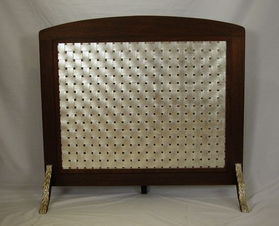 P.H. Miller Fire Screen, White Gold