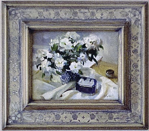 Cassetta Frame, Mary Whyte Painting