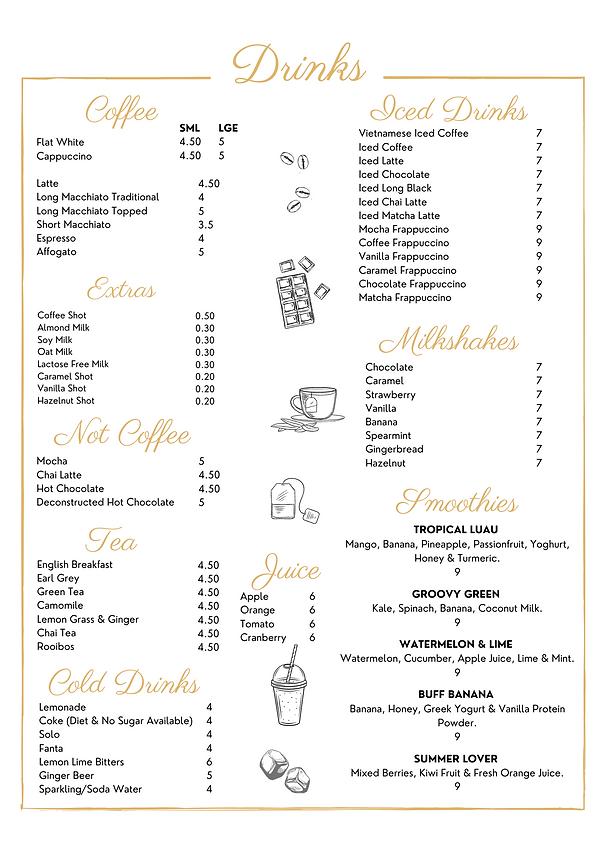 Website DRINKS - Wood & Stone Café - Men
