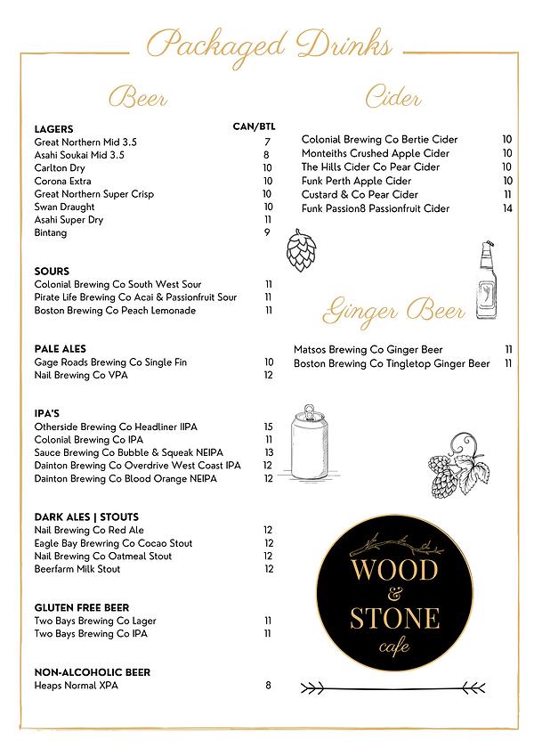 Website PACKAGED DRINKS - Wood & Stone C
