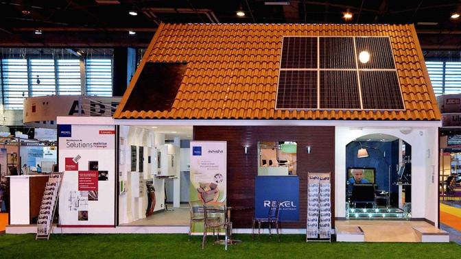 La maison active REXEL, une réalisation de l'agence événementielle et standiste : All Solutions