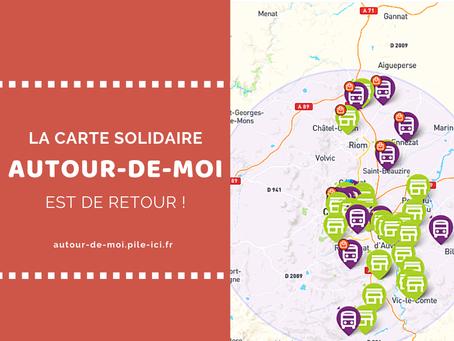 La carte solidaire Autour-de-moi est de retour !