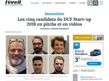 Les cinq candidats du DCF Start-up 2018 en pitchs et en vidéos