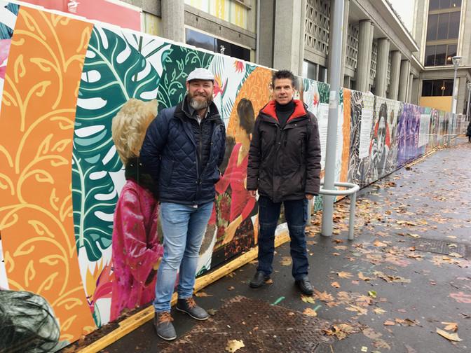 All numéric réalise une palissade artistique de plus de 250 mètres au cœur de Clermont-Ferrand