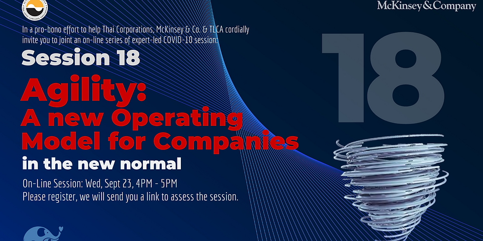 McKinsey&Co. Session 18: Agility: A New Operating Model for Companies in the new normal
