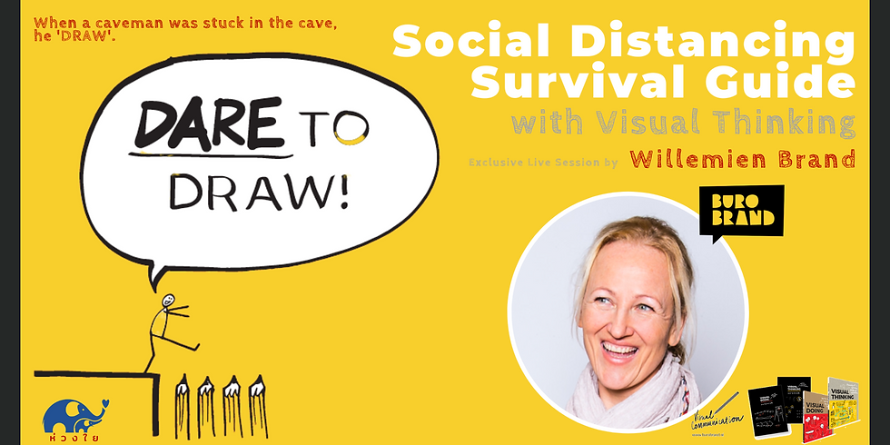 Social Distancing Survival Guide with Visual Thinking   by Willemien Brand