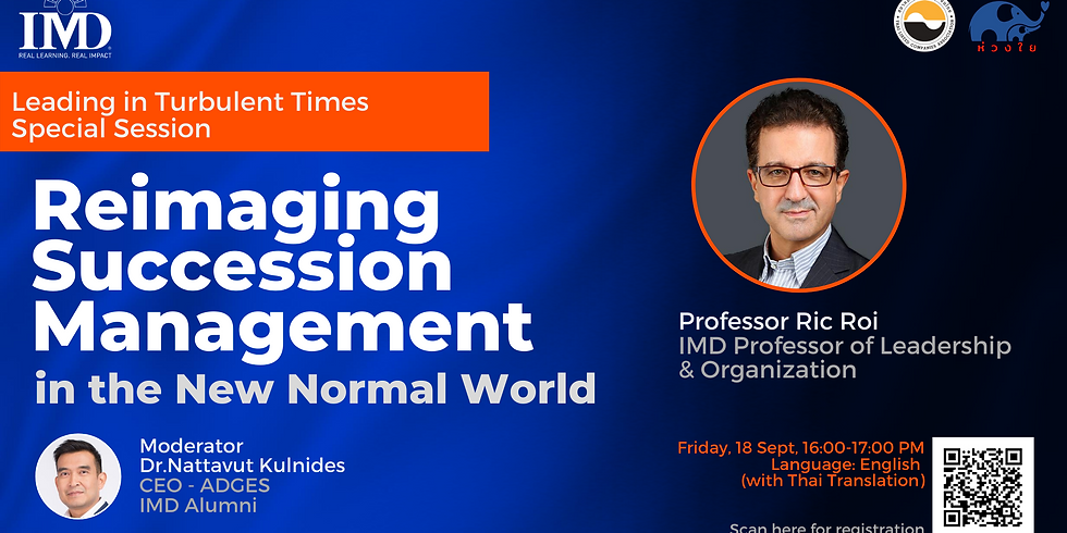 IMD - Reimaging Succession Management in the New Normal World