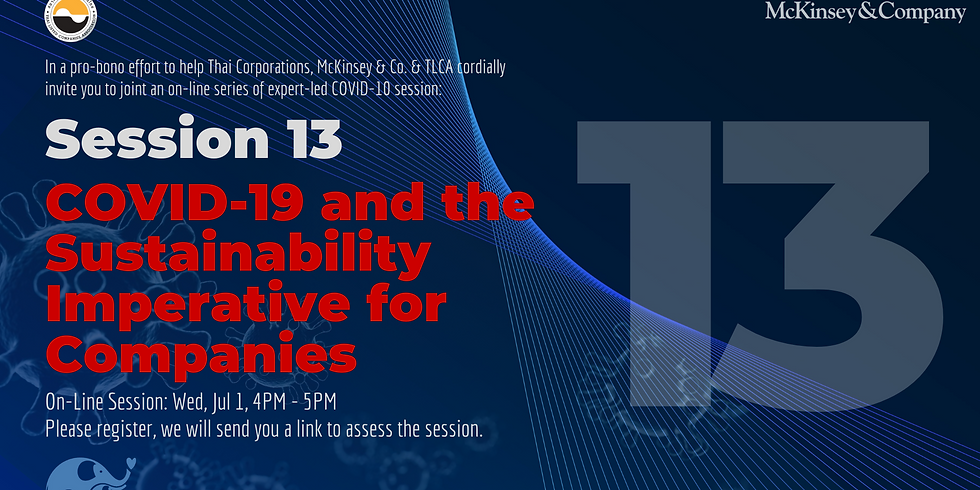McKinsey & Co. Session 13: COVID-19 and the Sustainability Imperative for Companies
