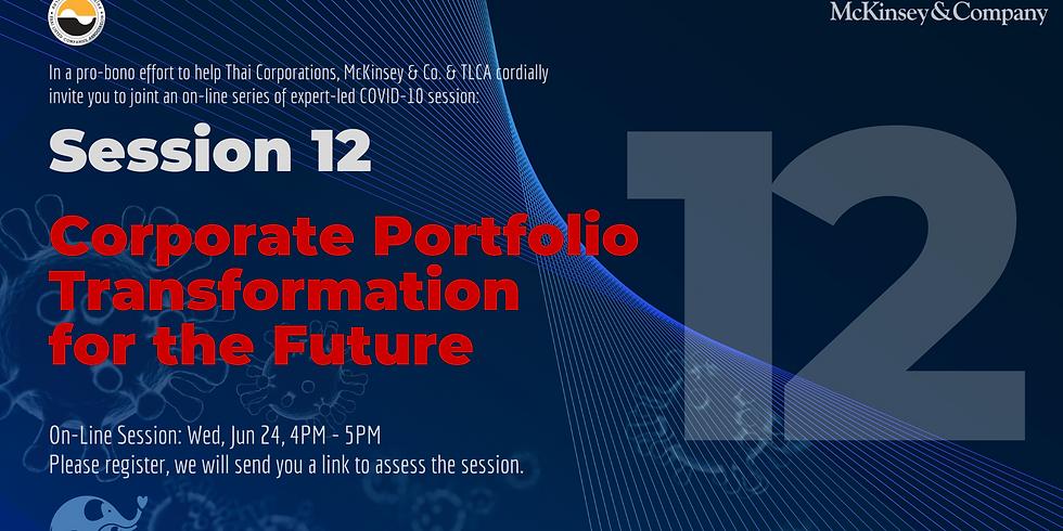 McKinsey & Co. Session 12: Corporate Portfolio Transformation for the Future