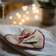 Coeur de Noel et graine alfafa pour prolonger l'esprit de noel