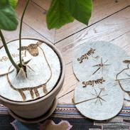 WoolyWoolpecker protège mes plantes contre les grands froids et les canicules. Il aide à garder l'humidité dans la terre.