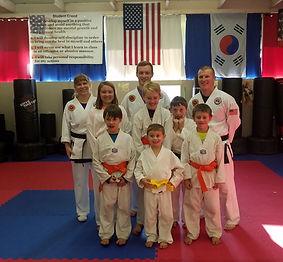 A Taekwondo class