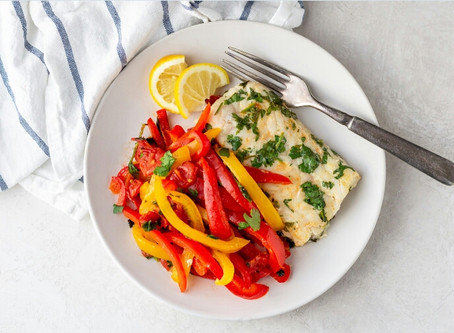 Lemon Cilantro Cod with Peppers