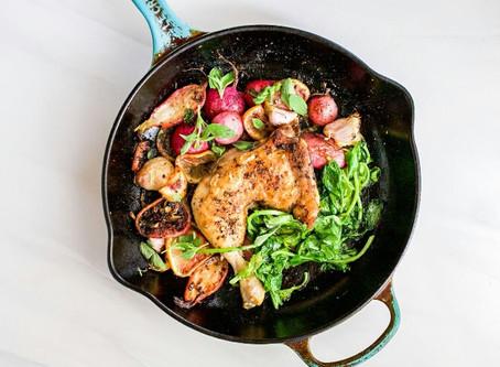 One Pan Chicken & Radishes