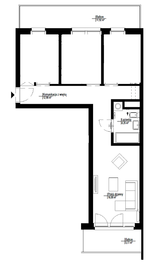 Apartment for rent near Posnania