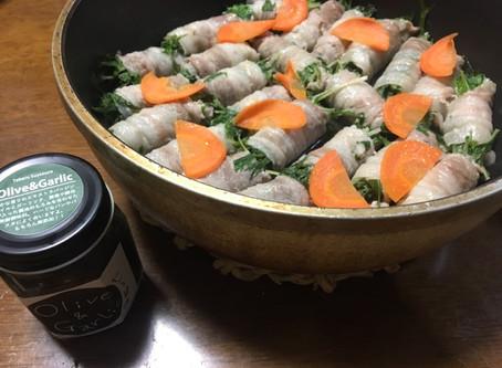 水菜の豚バラ巻き