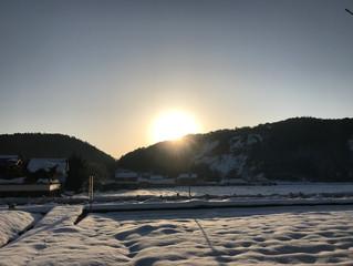 志賀郷の朝日