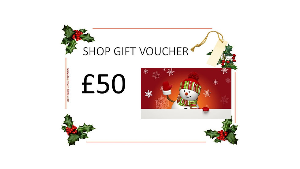Shop Gift Voucher £50