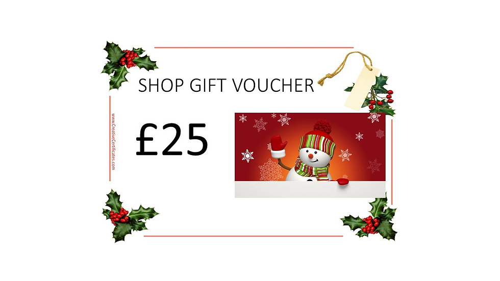 Shop Gift Voucher £25