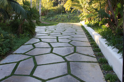 Stone driveway installation
