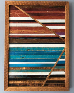 Abstract Reclaimed wood art