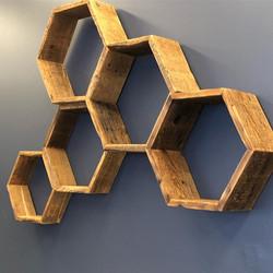 Century old honeycomb shelves